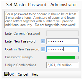 Set the Master Password