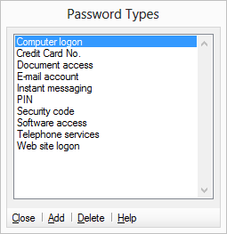 Create and use password Types