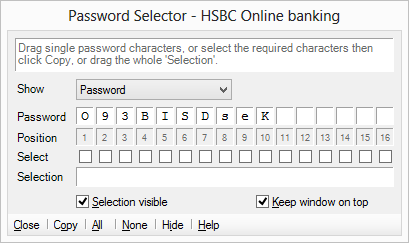 Use the Password Selector