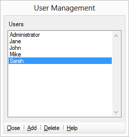 Setup and manage users